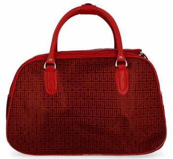 Velká Cestovní Taška Kufřík Or&Mi Greek Style Červená
