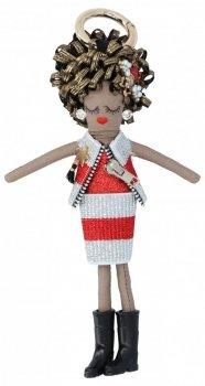 Přívěšek ke kabelce Agnes Doll Stříbrná/červená