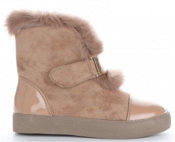 Módní Dámské Sneakersy boty sněhule Sergio Todzi Béžové