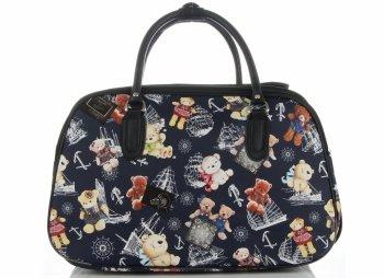 Malá cestovní taška kufřík Or&Mi medvědi Multicolor - Tmavě modrá