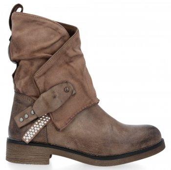 Khak univerzální kotníkové boty Elise