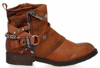 Zrzavé módní kotnikove boty Lucia