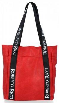 Roberto Ricci Módní Dámské Kabelky ShopperBag Červená