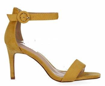 Žluté dámské sandály na podpatku Bellucci