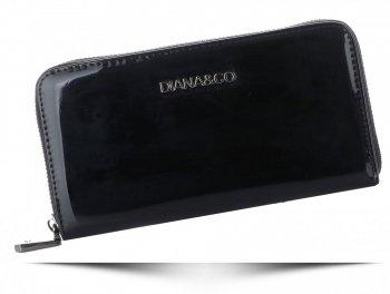 Elegantní Dámská Lakovaná Peněženka Diana&Co Firenze černá