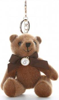 Přívěšek ke kabelce elegantní medvídek hnědý