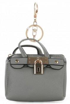 Přívěšek ke kabelce Kapsička na klíče šedá