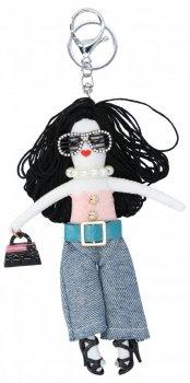 Přívěšek ke kabelce Justýnka Doll Černá