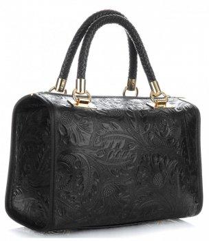 Elegantní kožený kufřík černý