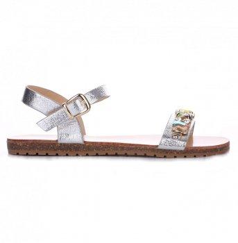 dámské sandály stříbrné