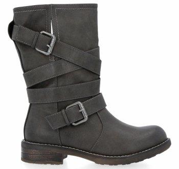Šedé univerzální kotníkové boty Verona