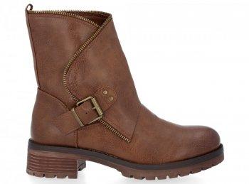 Zrzavé kotníkové boty Aria
