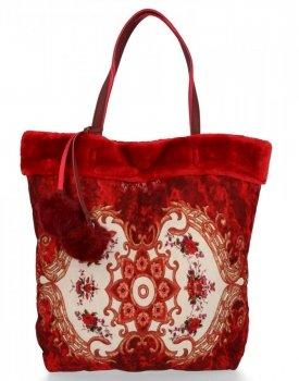 BEE BAG Dámská Kabelka Shopper XL Boho Style Červená