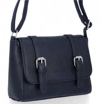 BEE BAG Dámská Kabelka Listonoška Vintage Bag Tmavě Modrá