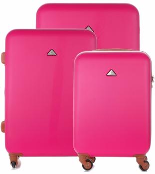 Kufry renomované firmy Snowball Sada 3v1 růžové