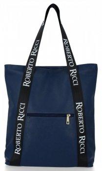 Módní Dámské Kabelky Shopper značky Roberto Ricci Tmavě modrá