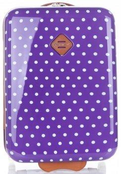 Módní Palubní kufřík tečkovaná Snowball fialová