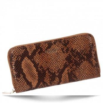 Exkluzivní Dámská Peněženka XL hadí vzor Diana&Co Hnědá