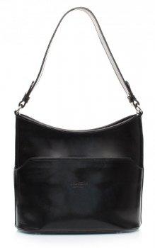 Elegantní kožené kabelky do ruky i na rameno černá