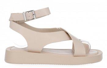 Béžové dámské sandály na platformě Givana