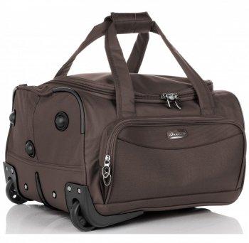 Cestovní taška na kolečkách s teleskopickou rukojetí Wizz Air Cabine značky Madisson čokoládová