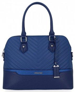 Elegantní Dámská Kabelka Módní Kufřík značky David Jones Modrá