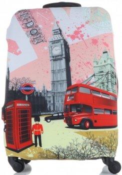 Obal na kufr Snowball L size London vícebarevný růžová