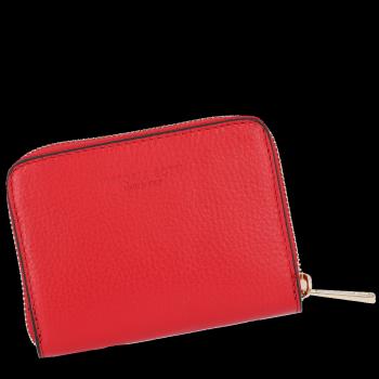 Vittoria Gotti Poręczny Firmowy Skórzany Portfel Damski Made in Italy Czerwony