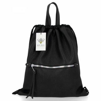 BEE BAG Torebka Damska Worek typu Shopper Bag Beatrice Czarna