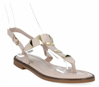 Beżowe modne sandały damskie firmy Bellicy