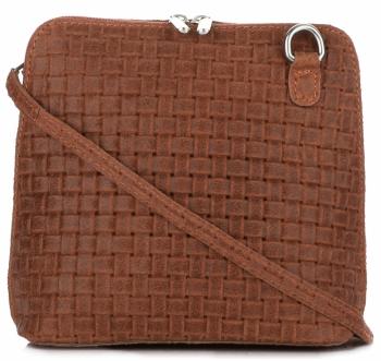 Mała Włoska Torebka Skórzana Listonoszka firmy Genuine Leather Ruda