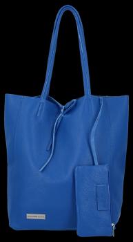 Torebki Skórzane VITTORIA GOTTI Modny Shopperbag z Etui Kobalt