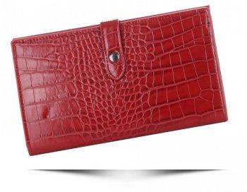 Portfel Damski Etui na Karty w rozmiarze XL firmy Diana&Co Firenze Czerwony