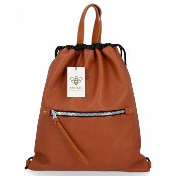 BEE BAG Torebka Damska Worek typu Shopper Bag Beatrice Ruda