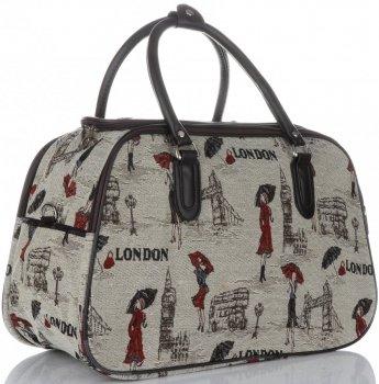 Duża Torba Podróżna Kuferek Or&Mi London Multikolor - Beżowa