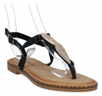 Czarne modne sandały damskie firmy Sergio Todzi