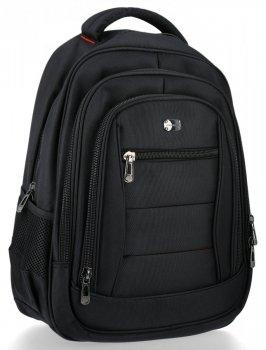 Trzykomorowe Plecaki Męskie w rozmiarze XL firmy David Jones Czarny
