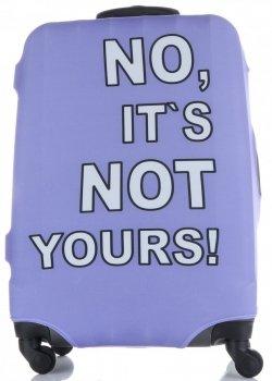 Pokrowiec na Walizkę firmy Snowball w rozmiarze L No its not yours Fiolet