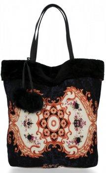 BEE BAG Torebka Damska Shopper XL Boho Style Czarna