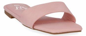 Różowe modne klapki damskie firmy Bellicy
