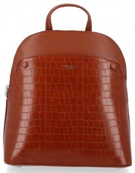Eleganckie Plecaczki Damskie z motywem aligatora firmy David Jones Brązowy