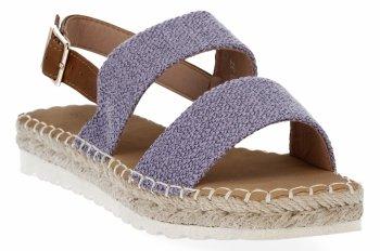 Fioletowe sandały damskie espadryle firmy Bellucci