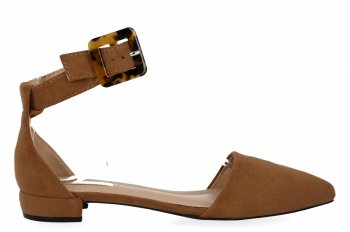 Camelowe eleganckie sandały damskie firmy Bellucci