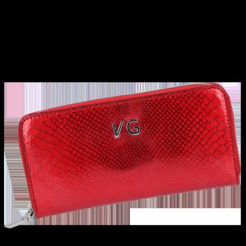 Luksusowe Skórzane Portfele Damskie firmy Vittoria Gotti Made in Italy Czerwony
