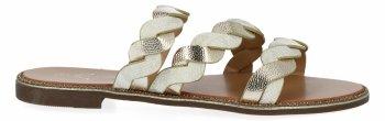 Złote stylowe klapki damskie firmy Bellicy