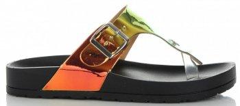 Modne Klapki Damskie z możliwością zwężenia marki Ideal Shoes Czarne