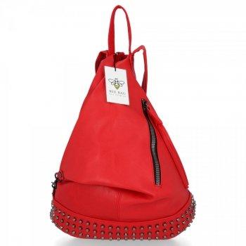 BEE BAG Modny i Uniwersalny Plecak Damski Diana Czerwony