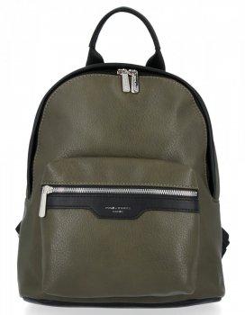 Uniwersalne Solidne Plecaki Damskie firmy David Jones Zielony