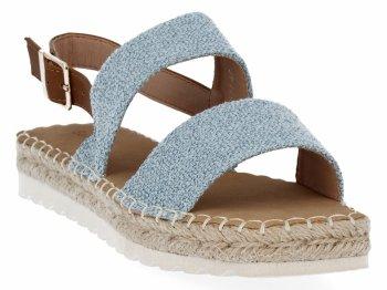 Niebieskie sandały damskie espadryle firmy Bellucci