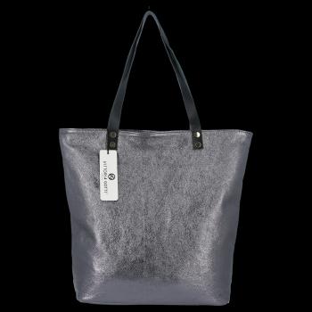 Modne Torebki Skórzane Włoski Shopper Bag firmy Vittoria Gotti Iron